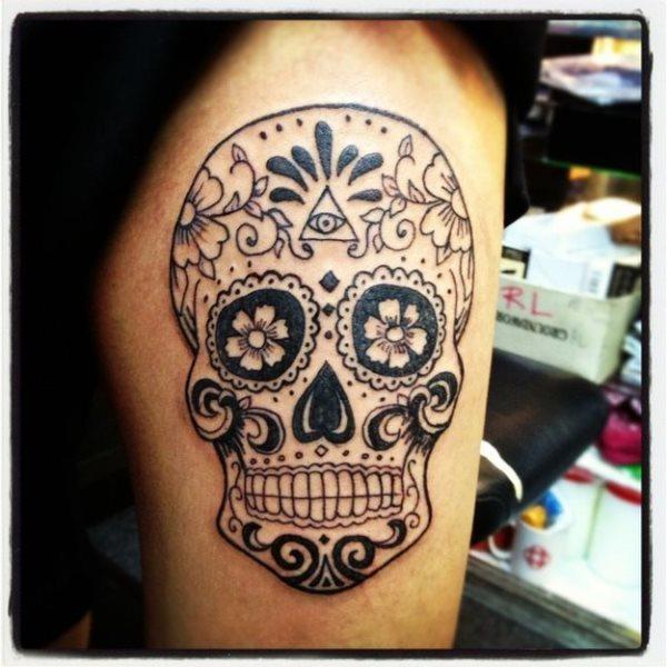 foto tatuaje calavera 447