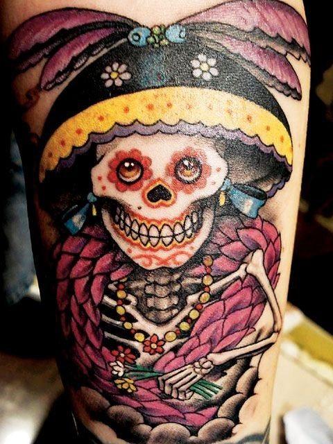 foto tatuaje calavera 458