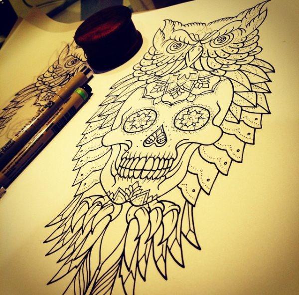 foto tatuaje calavera 461