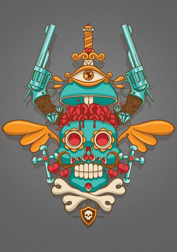 tatuaje calavera mexicana 102