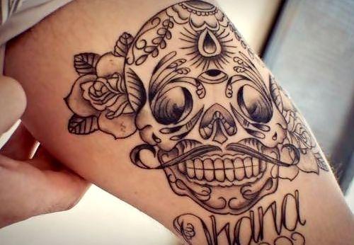 tatuaje calavera mexicana 104
