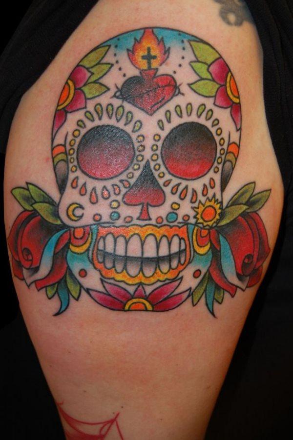 tatuaje calavera mexicana 105