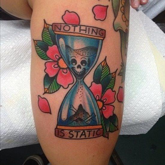 tatuaje reloj arena 321