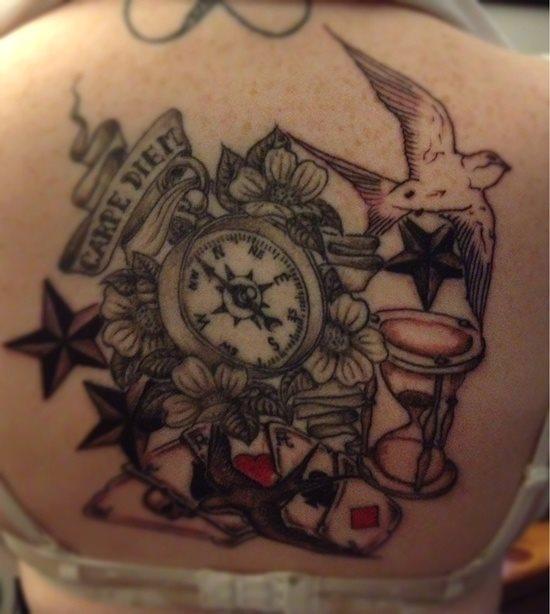 tatuaje reloj arena 342