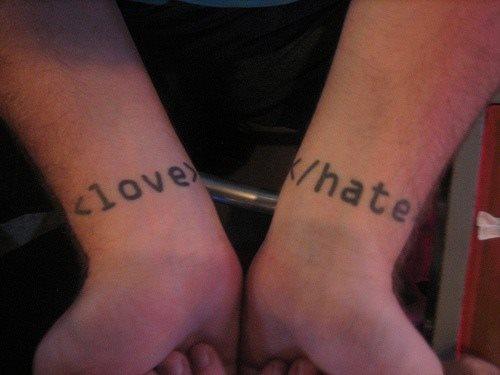 tatuaje amor love 1055