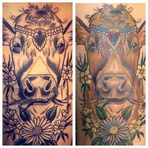 tatuaje vaca 330