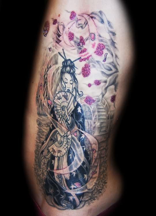 145 Tatuajes De Bellas Geishas Y Mujeres Japonesas