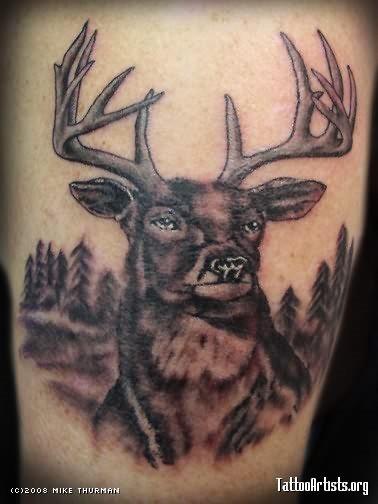 53 Tatuajes De Ciervos Rumiantes Y De Alces