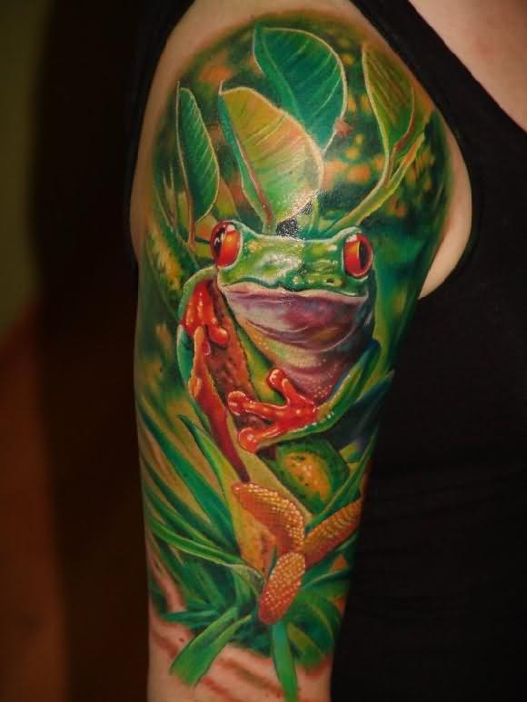 135 Tatuajes de anfibios: Ranas y sapos