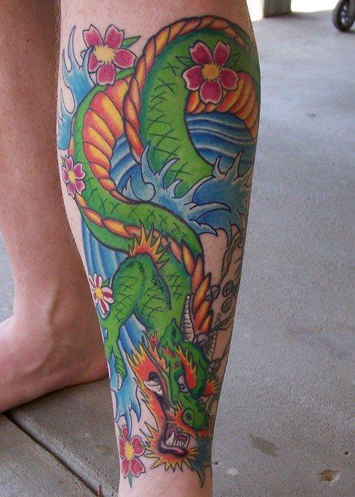 Dragon Calf Tattoo Designs