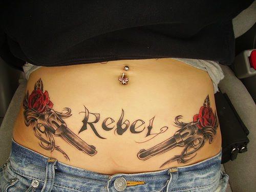 Tatuajes En La Cintura O Muy Cerca De Ella
