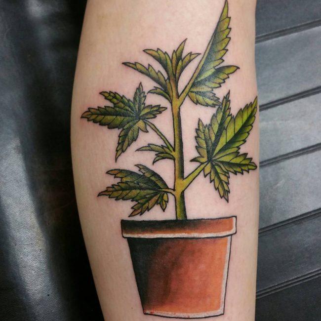 tatuaje cannabis161