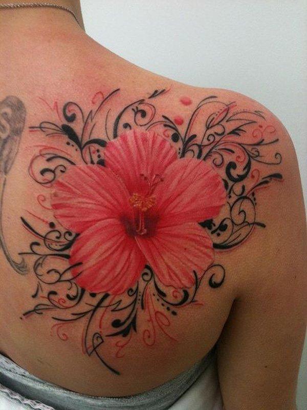 Flores Hawaianas Tatuajes De La Flor Del Hibisco Y Otras