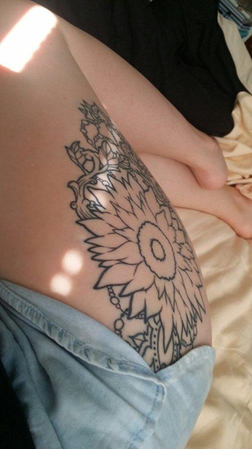 Girasoles Pequeños Y Grandes 89 Tatuajes De Esta Planta