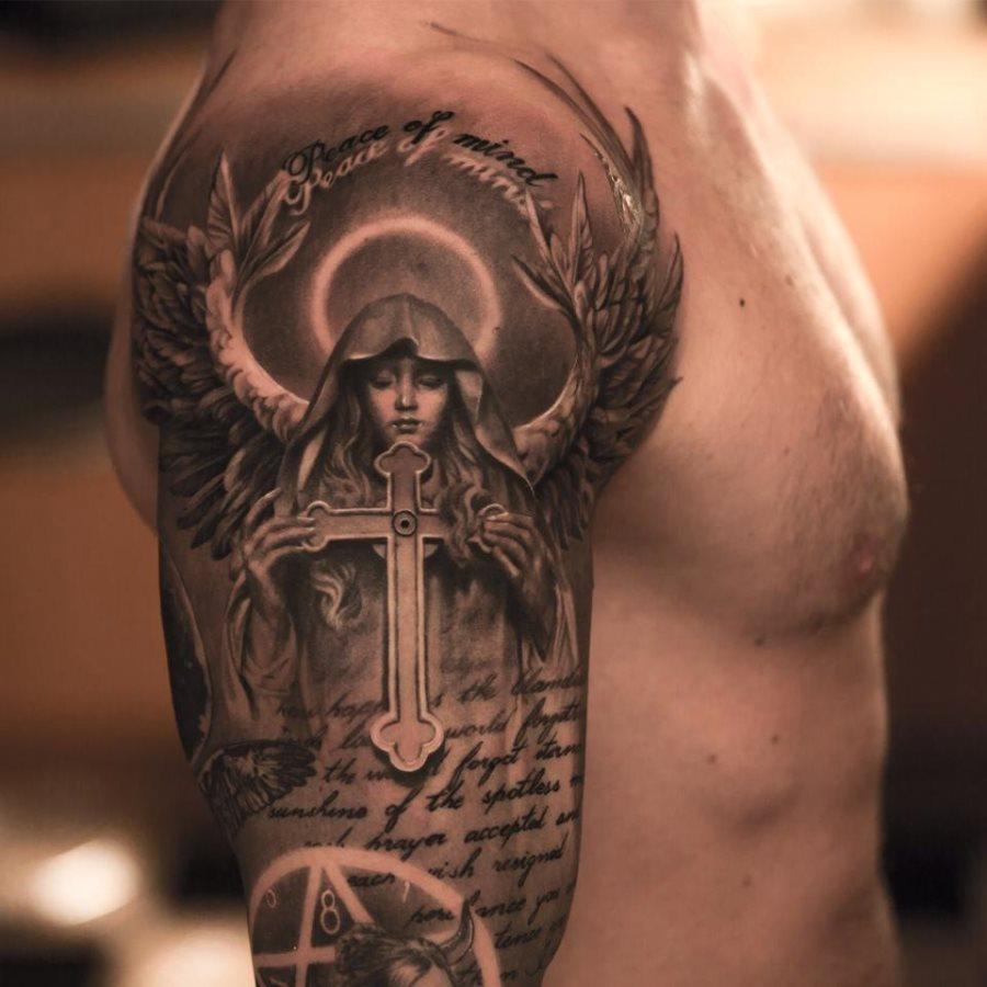 Virgen María: Tatuajes de la madre de Jesús