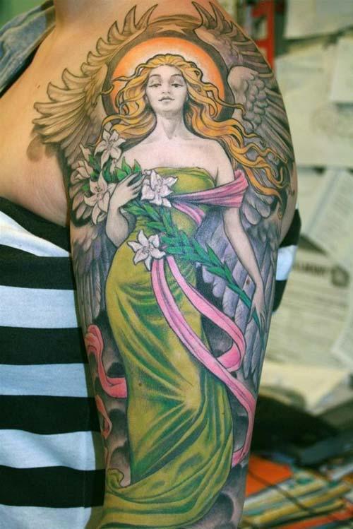 94 Tatuajes de ángeles: Fotos e imágenes