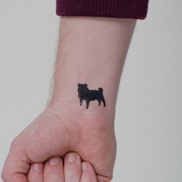 Tatuaje Silueta Perro Yorkshire Sfb