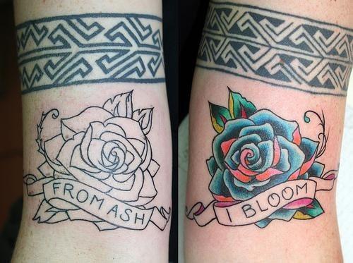Tatuajes De Rosas Blanco Y Negro