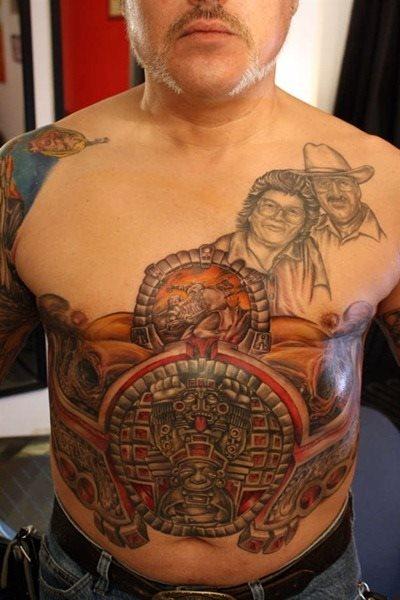 39 Tatuajes ingeniosos en el abdomen: Algunos pequeños