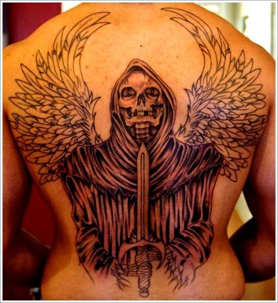 49 tatuajes sat nicos y diab licos de la muerte - Santa muerte tatouage signification ...