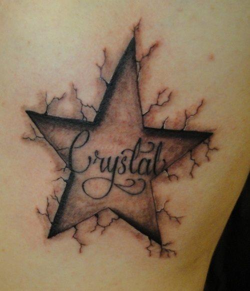 90 Tatuajes De Nombres O Motes De Personas - Tatuajes-de-estrellas-con-nombres