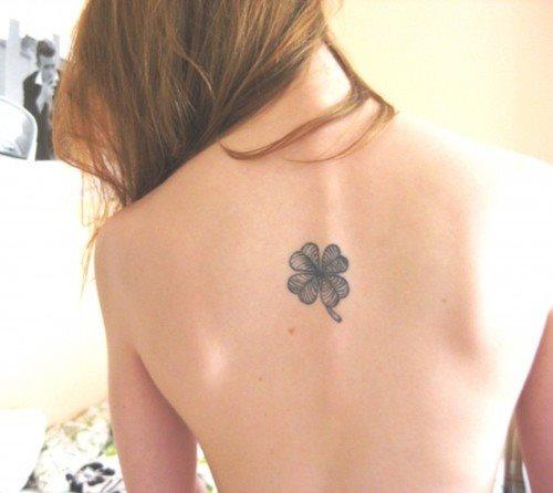 49 Tatuajes de trifolios o tréboles de 4 hojas