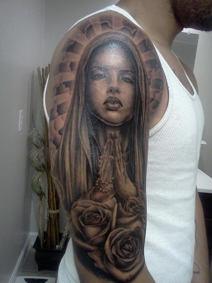 tatuaje virgen 13