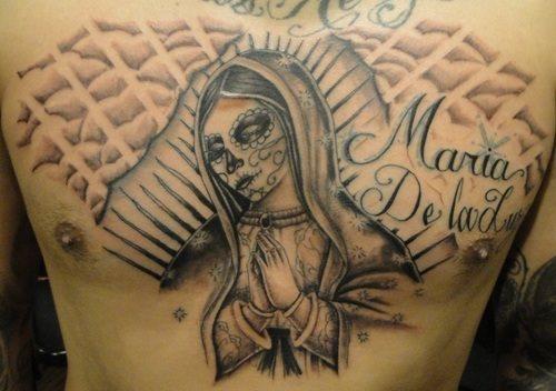 tatuaje virgen 23