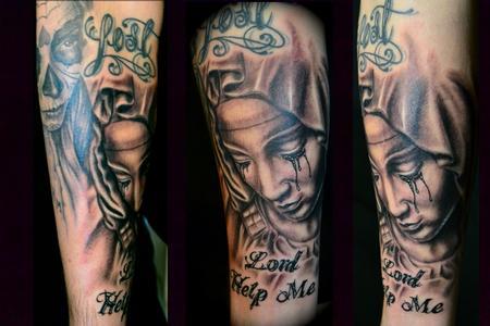 tatuaje virgen 45