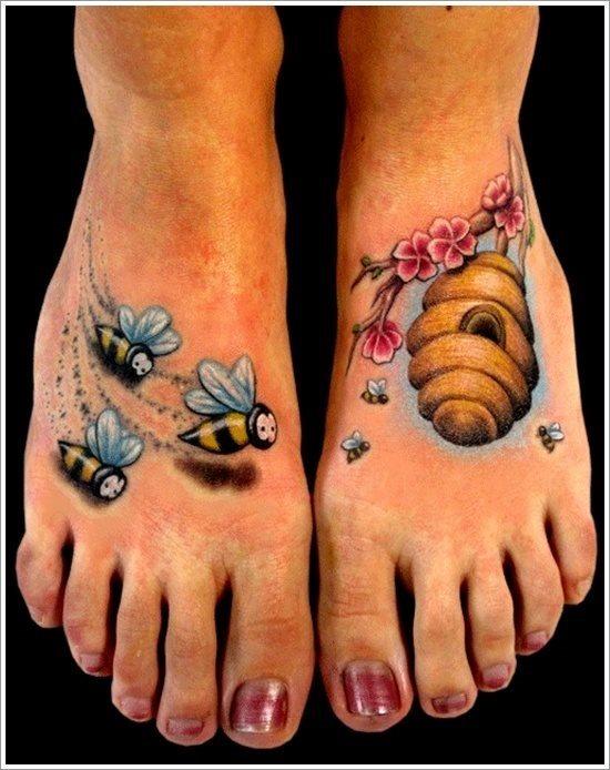 galer a de 58 tatuajes con avispas y abejas. Black Bedroom Furniture Sets. Home Design Ideas