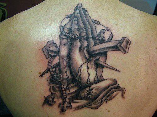 83 Tatuajes De Manos Rezando Galería Con Imágenes