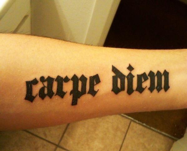 62 Tatuajes Creativos De Carpe Diem Galería De Fotos