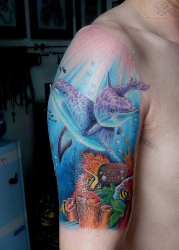 70 Galeria De Tatuajes Del Mar Y Del Oceano Con Agua Y Peces