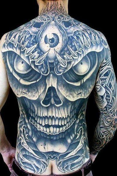 91 tatuajes de calaveras y crneos galera de diseos un gran diseo que cubre la espalda al completo con los rasgos de una calavera thecheapjerseys Images