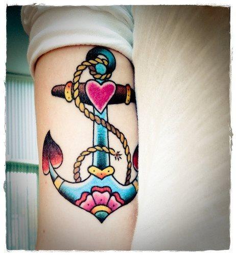 89 Tatuajes De Anclas Con Nudos Galería De Fotos
