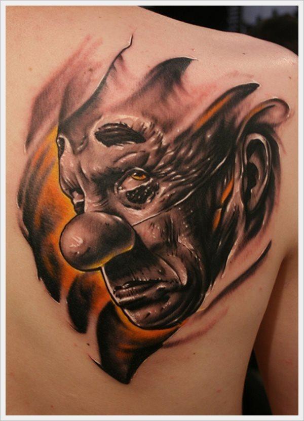79 Tatuajes De Payasos Coloriodos Diabólicos Y Jokers