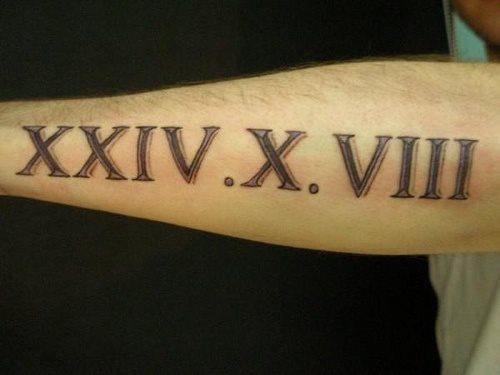 59 Tatuajes De Números Importantes Galería De Fotos