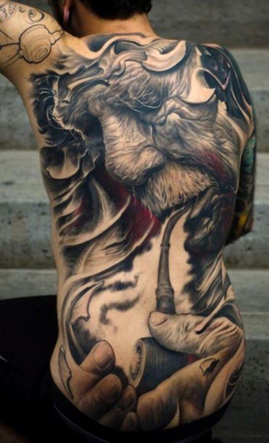 93 Tatuajes En La Espalda O La Columna Vertebral Galería