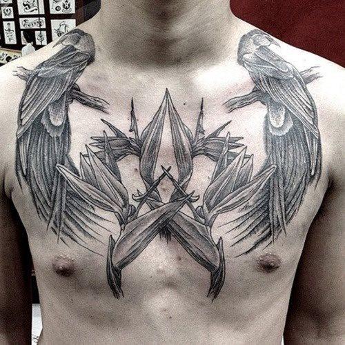 68 Tatuajes En El Pecho Galería De Diseños