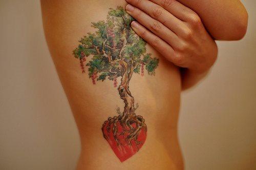 151 Tatuajes De árboles Con Troncos Galería De Fotos