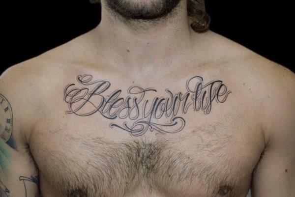 68 Tatuajes En El Pecho Galeria De Disenos - Tatuajes-en-pecho