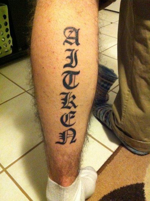 93 Tatuajes Simples De Letras Y Escritura