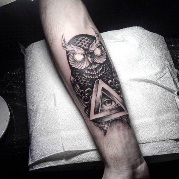 Tatuajes De Búhos Lechuzas Y Mochuelos