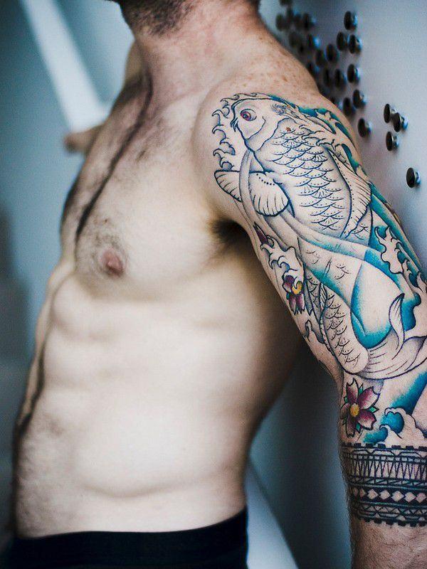 62 Tatuajes De Carpas Japonesas O Del Pez Koi Galería