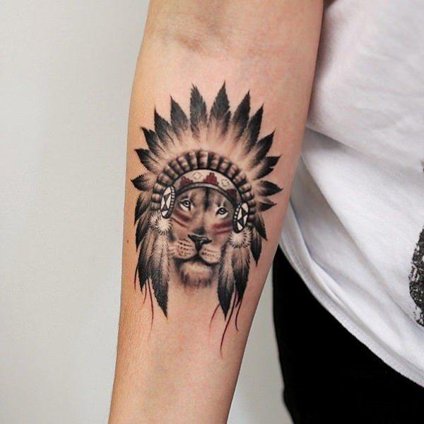 colecci n con 73 tatuajes de leones valientes. Black Bedroom Furniture Sets. Home Design Ideas