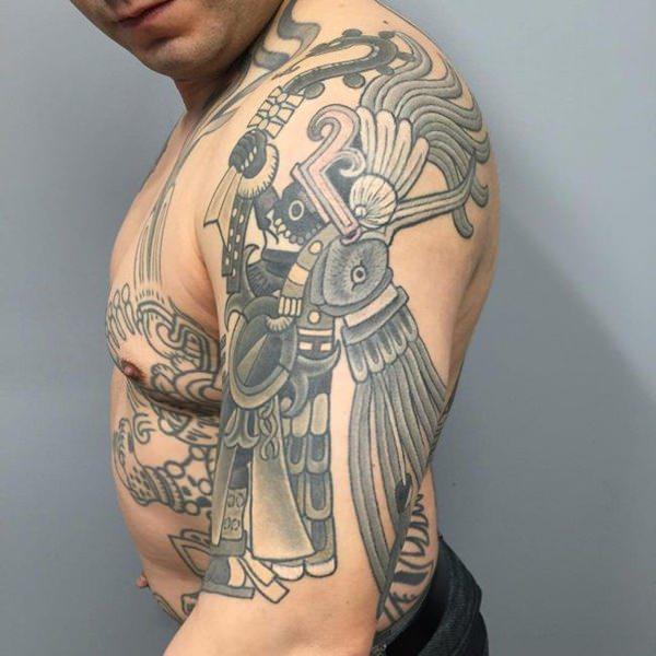 74 Tatuajes Aztecas Para Hombres Y Mujeres Galería