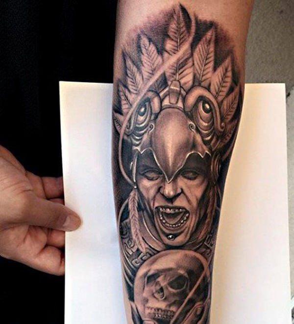 90 Tatuajes Aztecas De Esta Antigua Civilizacion
