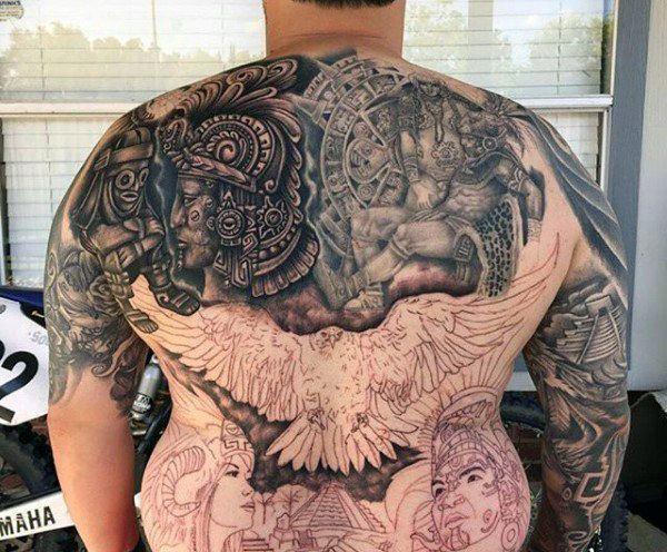 90 Tatuajes Aztecas De Esta Antigua Civilización