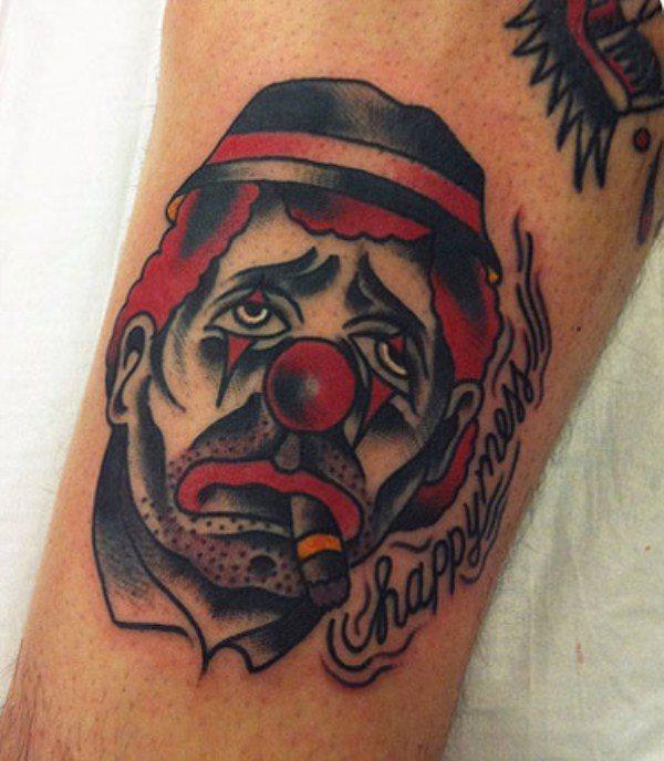 49 Tatuajes Con Extravagantes Y Coloridos Payasos