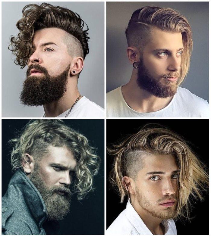 Fácil peinados hombre rizado Imagen De Cortes De Pelo Tendencias - Rizado Degradado Hombre Pelo Largo - Peinados